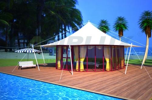 野奢八边形帐篷酒店全景展示