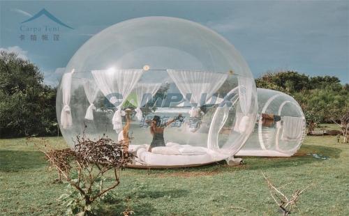 全透明充气泡泡帐篷酒店屋-全透明无骨架圆形泡泡帐篷