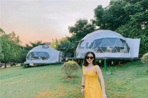 武汉星空球形帐篷营地-湖北星空帐篷酒店定制