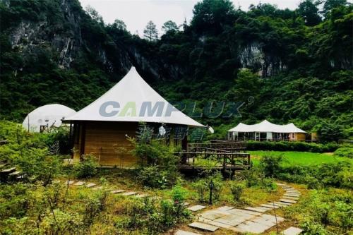 带孩子也可轻旅行,内蒙古草原帐篷酒店住起来