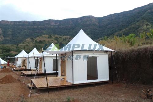 坐落在荒郊野外野奢帐篷酒店-斯里兰卡