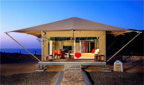 野奢帐篷酒店与自然景观相结合