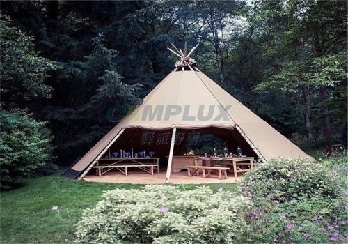 北美印第安圆锥形帐篷特有发明史