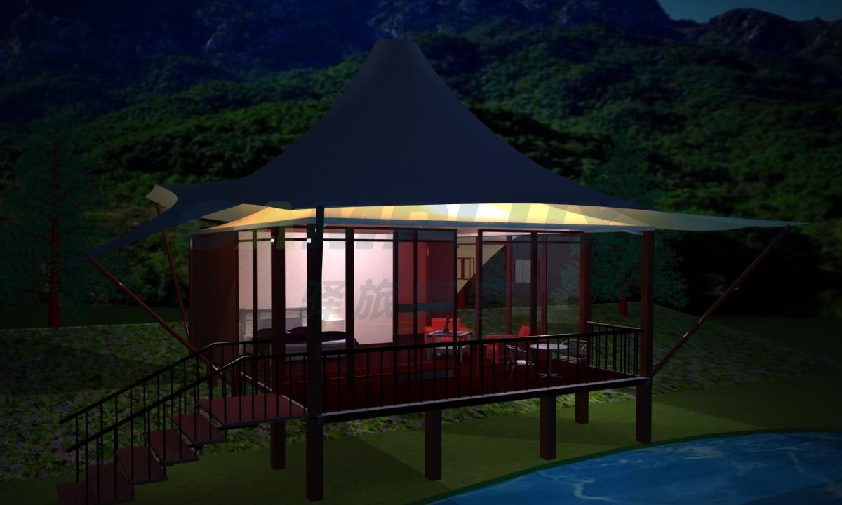 野奢四边形帐篷酒店