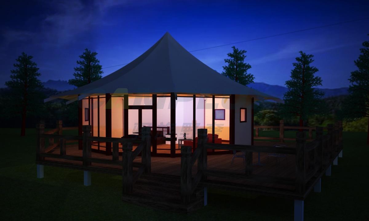 野奢八边形帐篷酒店