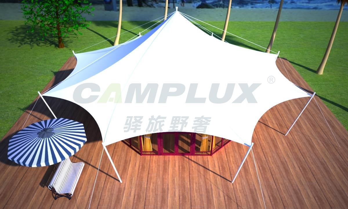 膜结构六边形帐篷酒店